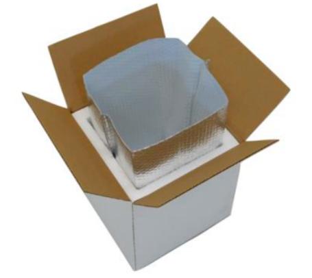 CooLiner inside Styrofoam Cooler