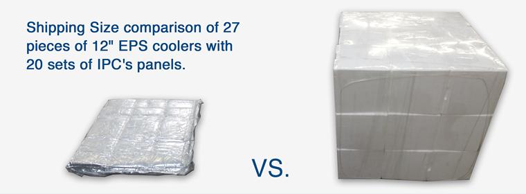 Size Comparison EPS Cooler