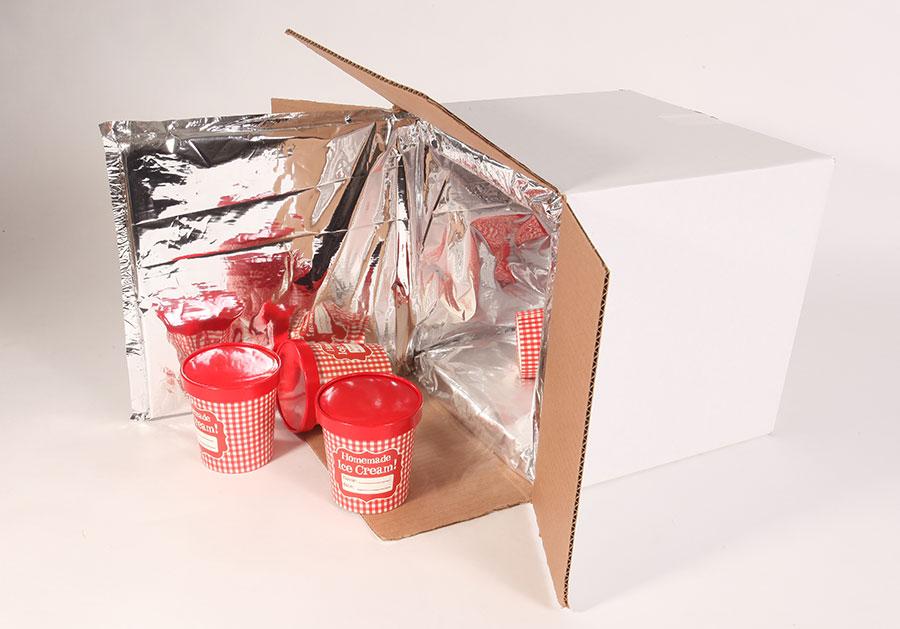 Ice Cream Insulated Shipper